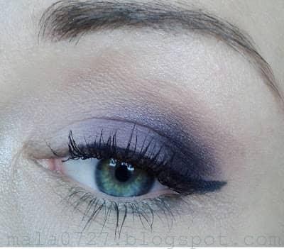 Makijaż dzienny w fiolecie
