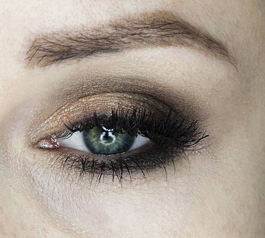 makijaż w brązach